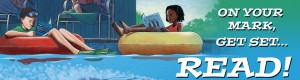 On Your Mark, Get Set...Read! Summer Reading 2016 Banner