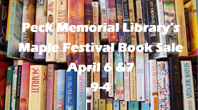 Maple Festival Book Sale Sign